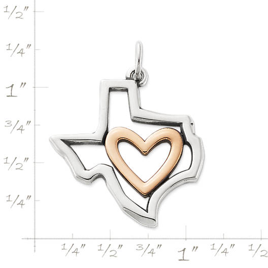 View Larger Image of I Love Texas Pendant