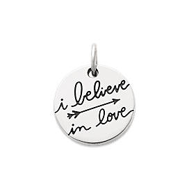 """I Believe in Love"" Charm"