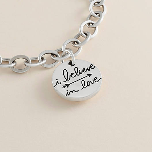 "View Larger Image of ""I Believe in Love"" Charm"