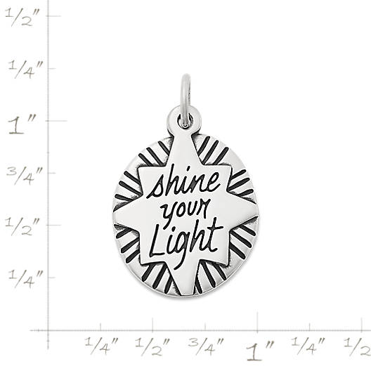 "View Larger Image of ""Shine Your Light"" Charm"