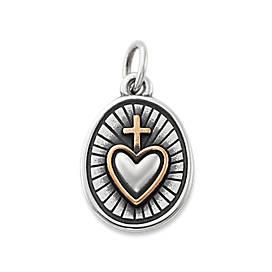Radiant Sacred Heart Charm
