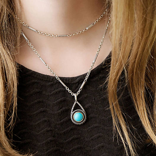 View Larger Image of Marjan Pendant with Turquoise
