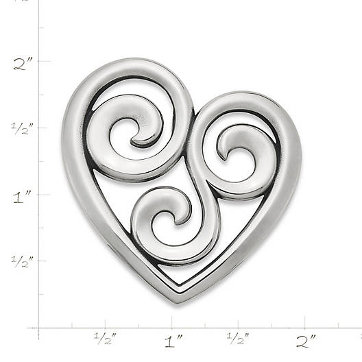 View Larger Image of Swirl Heart Pendant