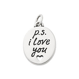 """P.S. I Love You"" Charm"