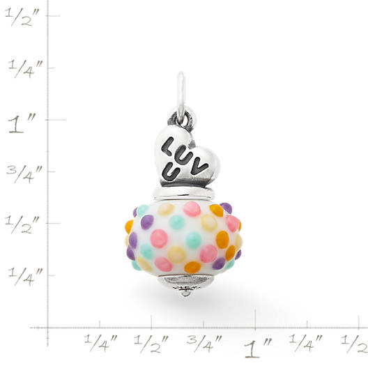 View Larger Image of Candy Heart Art Glass Charm