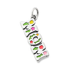 "Enamel Beautiful ""Mom"" Charm"