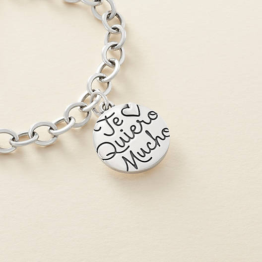 "View Larger Image of ""Te Quiero Mucho"" Charm"