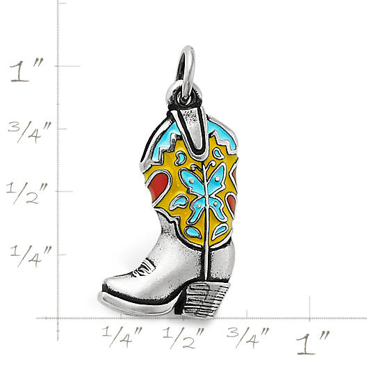View Larger Image of Enamel Western Boot Charm