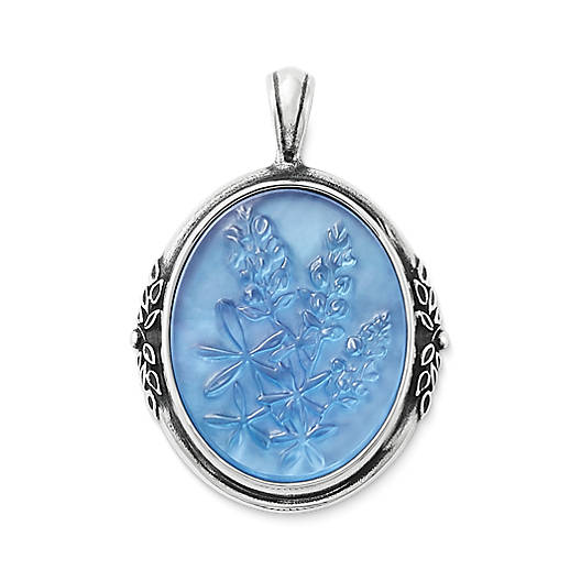 Sculpted Bluebonnet Triplet Pendant