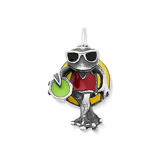 View Larger Image of Enamel Party Frog Charm