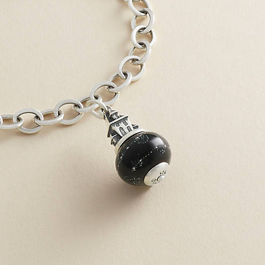 View Larger Image of Haunted House Art Glass Charm
