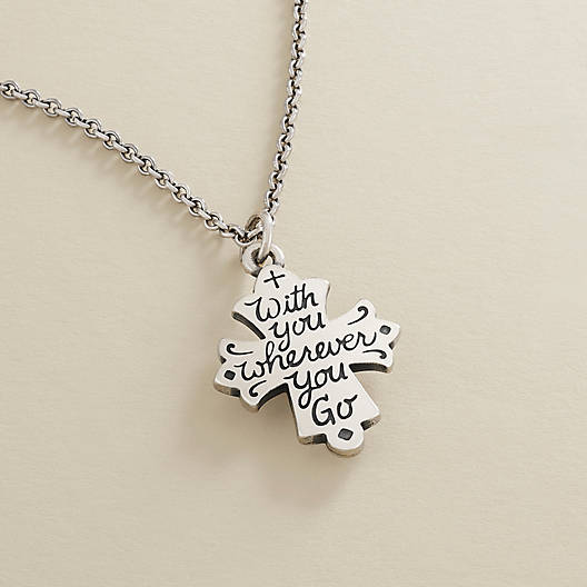 """View Larger Image of """"With You Wherever You Go"""" Cross"""