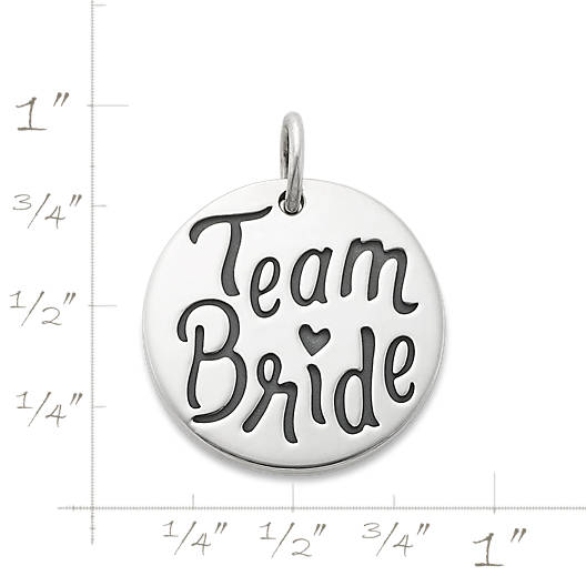 """View Larger Image of """"Team Bride"""" Charm"""