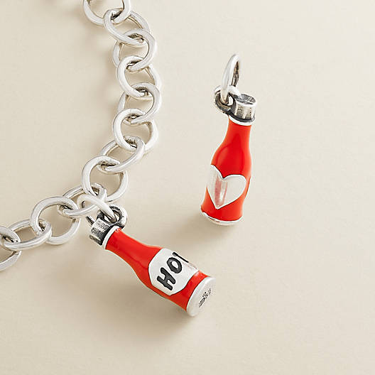 """View Larger Image of Enamel """"Hot"""" Sauce Charm"""