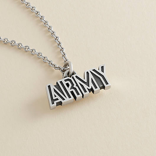 """View Larger Image of """"Army"""" Charm"""