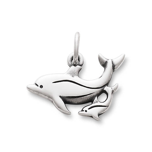 Mother & Baby Dolphin Charm