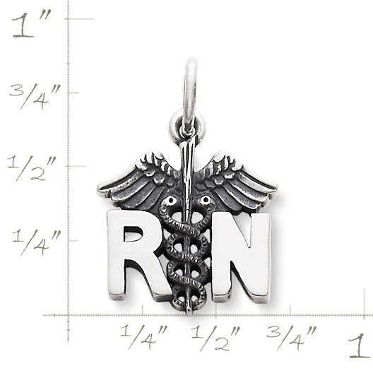 "View Larger Image of ""RN"" Charm"