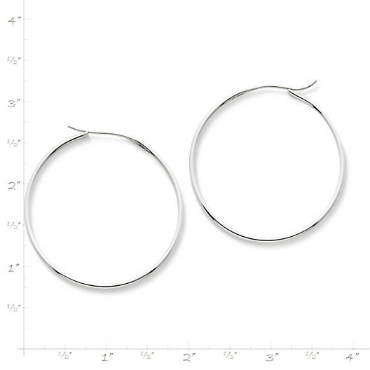 View Larger Image of Large Swedged Hoop Earrings