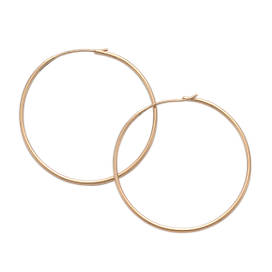 Large Swedged Hoop Earrings