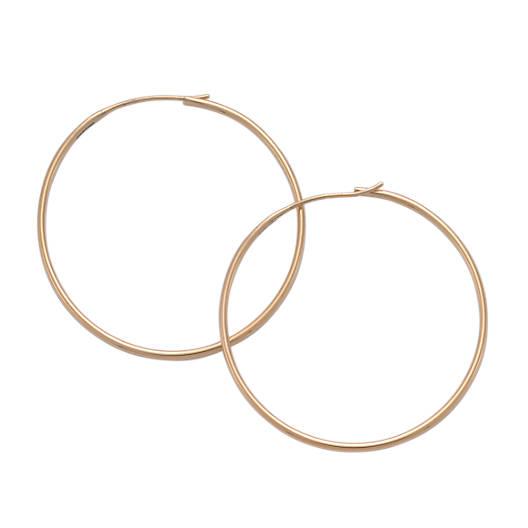 View Larger Image of Large Swedged Hoop Earrings