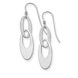 Textured Oval Ear Hooks