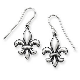 Fleur-De-Lis Ear Hooks