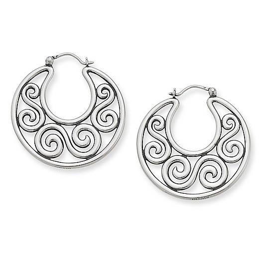 View Larger Image of Open Scroll Hoop Ear Hooks