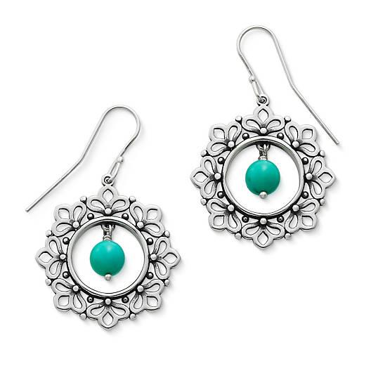 View Larger Image of Garland Ear Hooks with Turquoise