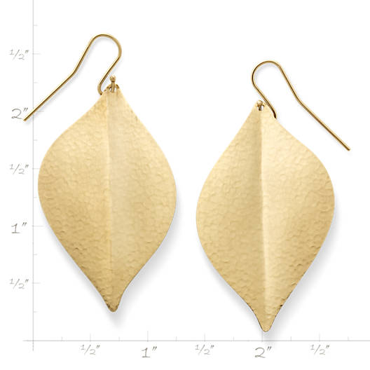 View Larger Image of Repousse Leaf Ear Hooks