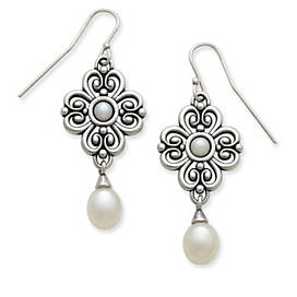 Adoration Ear Hooks with Cultured Pearls