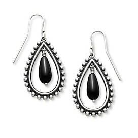 Beaded Teardrop with Onyx Ear Hooks