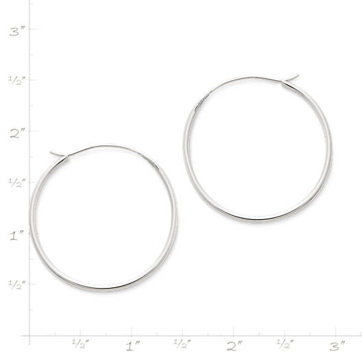 View Larger Image of Medium Swedged Hoop Earrings