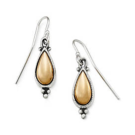 Antiquities Beaded Teardrop Ear Hooks