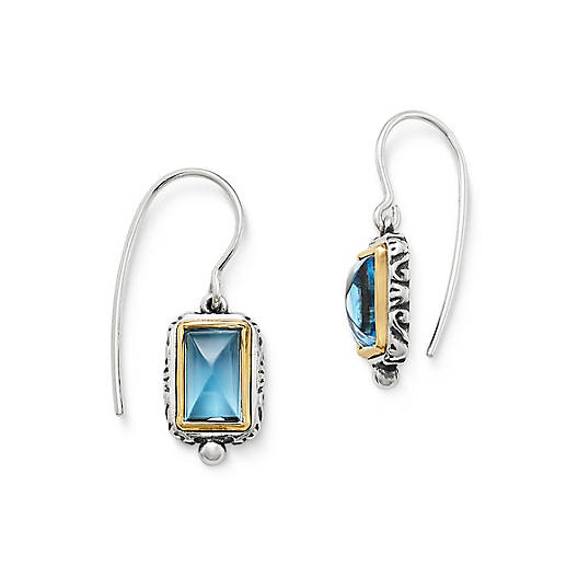 View Larger Image of Graciela Ear Hooks with Blue Topaz