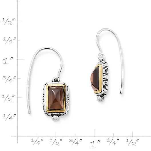 View Larger Image of Graciela Ear Hooks with Smoky Quartz