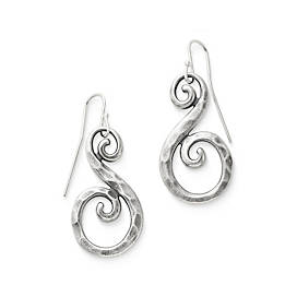 Forged Gentle Waves Ear Hooks