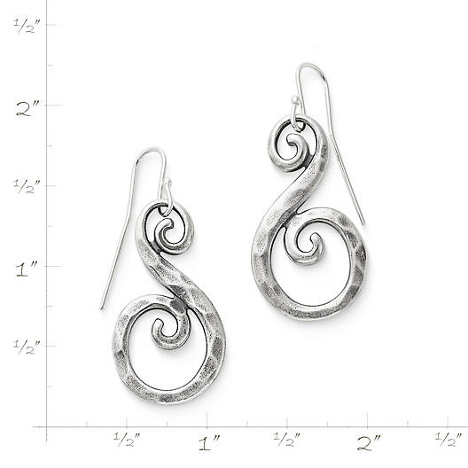 View Larger Image of Forged Gentle Waves Ear Hooks