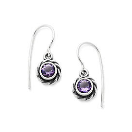 Elisa Ear Hooks with Amethyst