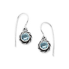 Elisa Ear Hooks with Blue Topaz
