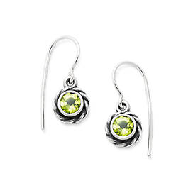 Elisa Ear Hooks with Peridot