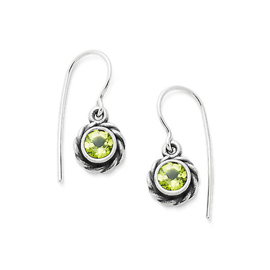 View Larger Image of Elisa Ear Hooks with Peridot