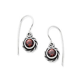 Elisa Ear Hooks with Garnet