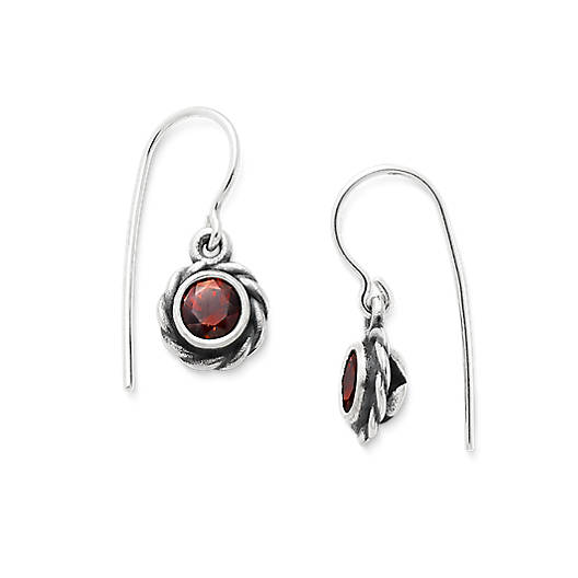 View Larger Image of Elisa Ear Hooks with Garnet
