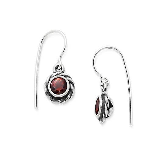 View Larger Image of Elisa Ear Hooks with Garnet