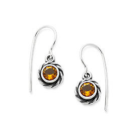 Elisa Ear Hooks with Citrine