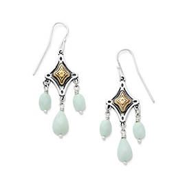 Tessares Ear Hooks with Amazonite