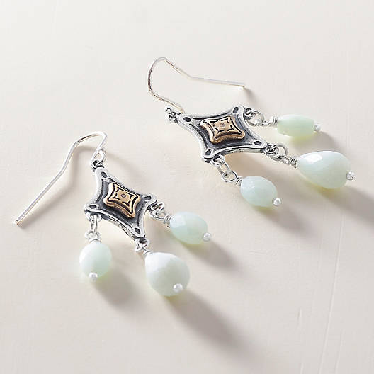 View Larger Image of Tessares Ear Hooks with Amazonite