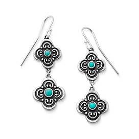 San Miguel Ear Hooks with Turquoise
