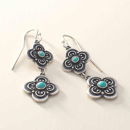View Larger Image of San Miguel Ear Hooks with Turquoise