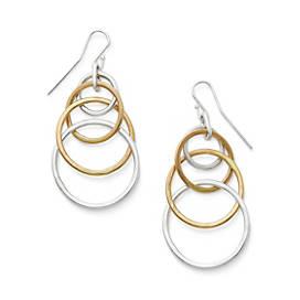 Cascading Circles Ear Hooks